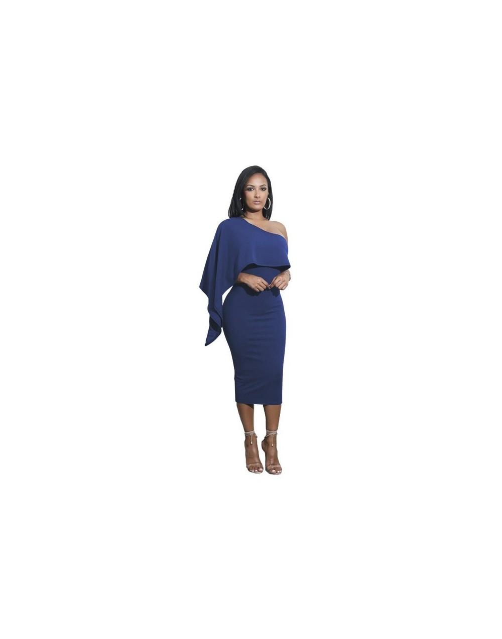 Women One-Shoulder Backless Sheath Sexy Party Dresses 2019 Autumn Slim Bodycon Dress Ruffles Mid-Calf Black White Dress Vest...