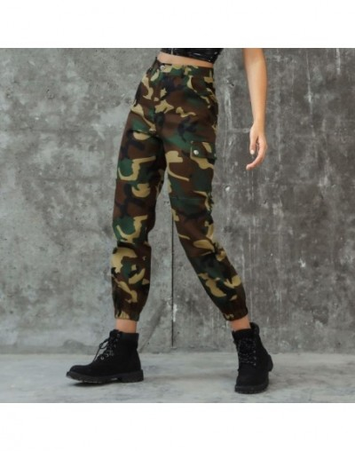 Missufe Boho Camouflage Print Cargo Pants Women High Waist Workout Sporty Trousers 2019 Autumn New Casual Loose Pants Female...