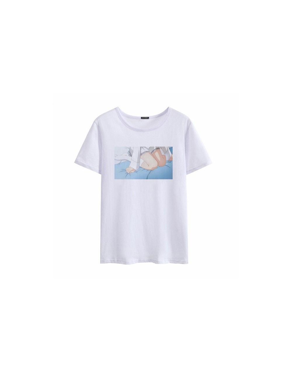 Summer new female Japanese cartoon short-sleeved T-shirt casual printing Harajuku large size O-neck cute tops - 8 - 47411437...