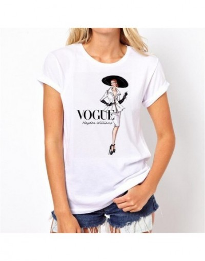 2019 Women T-shirts Summer Vogue Letter Harajuku T Shirt Female Aesthetic Thin Section Tshirt Streetwear Tops Womens Clothin...