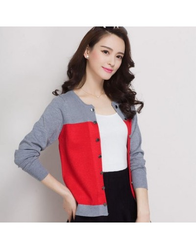 New 2016 black cardigan spring and autumn cardigan sweater female long-sleeve slim outerwear short design loose cape - Red -...