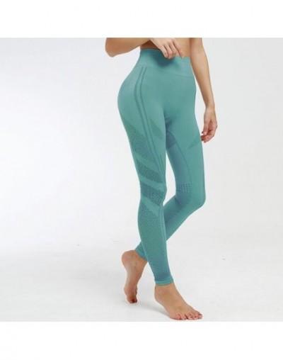 New Black Mesh High Waist Women Leggings Seamless Super Elastic Fitness Push Up Legging Casual Leggins Solid Sports Pants - ...
