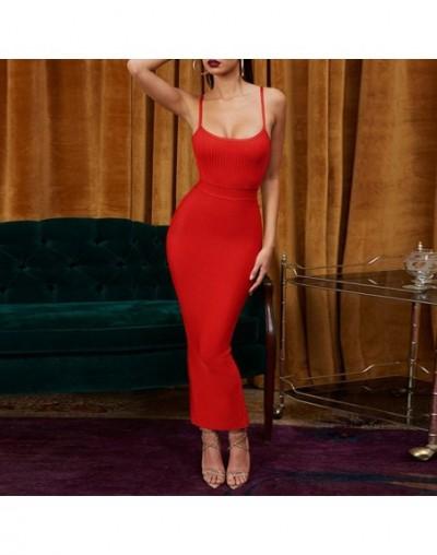 Vestidos Bandage 2019 New Arrivals Summer Party Night Women Dress Bandage Sexy Ginger Maxi Long Bandage Dress Bodycon - Red ...