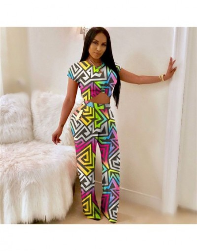 Geometric Color Block Spliced Casual Jumpsuit Women full length macacao feminino outfit fashion sexy casual Overalls - Multi...