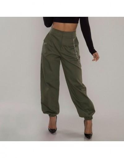 Women Pants Ladies Trouser Party Summer Wide leg Hip hop Fashion High waist Harem Stylish Solid - Army Green - 5Q111114164234-4