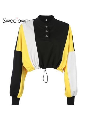 Long Sleeve Oversized Crop Korean Hoodies Sweatshirts Women Autumn Winter 2018 Turtleneck Harajuku Cute Kpop Sweatshirt - as...