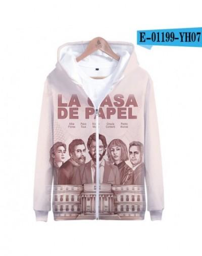 Spanish TV series Money Heist La casa de papel Zipprt Sweatshirt Hoodies 2019 New Arrival Cool Fashion Casual Long Sleeve Zi...