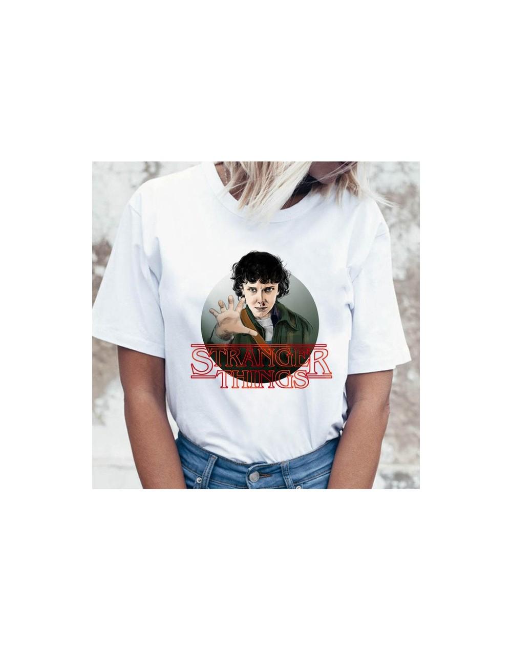 2019 Stranger Things TShirt Women Funny Tv Eleven Dustin Shirts Mike T shirt 80s Graphic Female Ulzzang T-shirt StrangerThin...