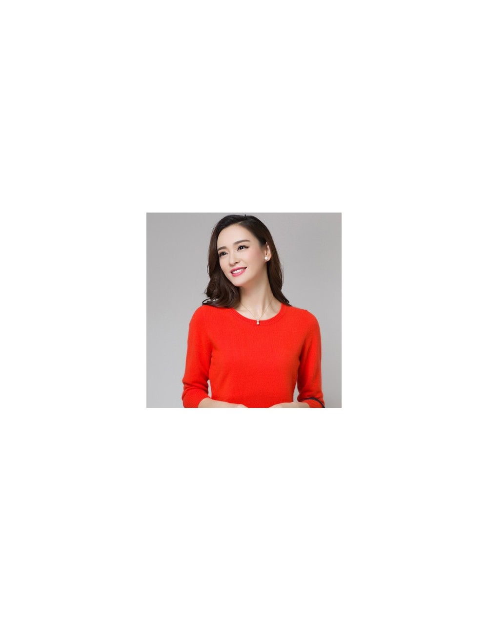 Basic Style Wool Cashmere Pullovers Women's Angora Rabbit Cashmere O-neck Knitted Sweaters Women Jumper Feature Rabbit Wool ...