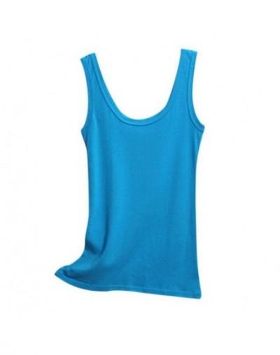 Spring Summer Tank Tops Women Sleeveless Round Neck Loose T Shirt Ladies Vest Singlets Camisole Cotton Slim Ladies Thin Vest...