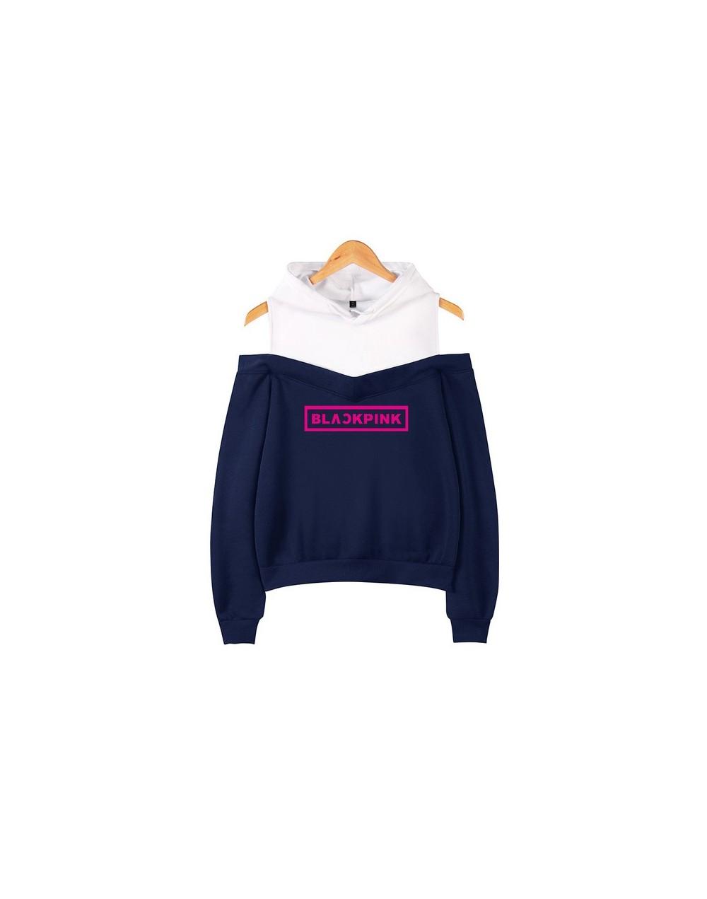 2019 hoodies Kpop Blackpink Sexy Off Shoulder Hoodies Women Team Member Member Name Print Sweatshirt Girl Group Blackpink Ho...