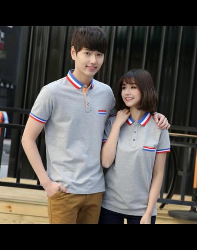 Womens Polo Tops Custom Short Sleeve Summer Women's Shirt Cotton Polo Neck Colored Striped Shirt Plus Size Girls' Polo Shirt...