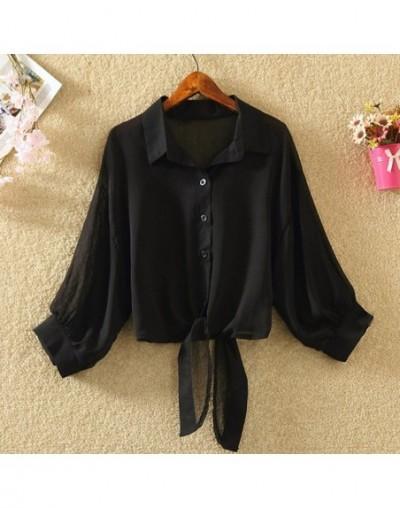 Women Summer Chiffon Kimono Blouse shirt Casual Transparent Plus Size Loose Shirts Half Sleeve Female Ladies Tops Beach Outw...