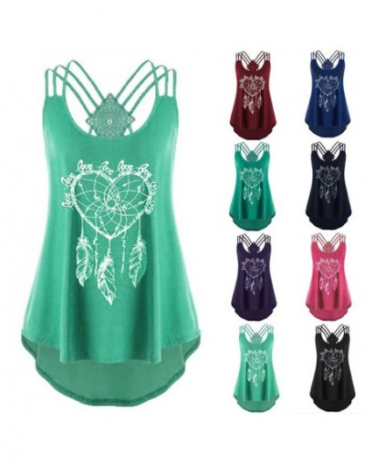 2019 Sexy Tops Women sleeveless Loose Vest Summer Ladies Casual V-neck Tees Top new Printing Lace Patchwork tank top - Pink ...