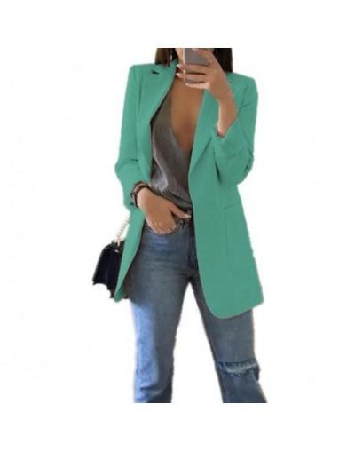 Slim Women Blazers Autumn Fashion Jacket Female Work Office Solid Pocket Business Notched Blazer Feminino Coat Plus Size S-5...