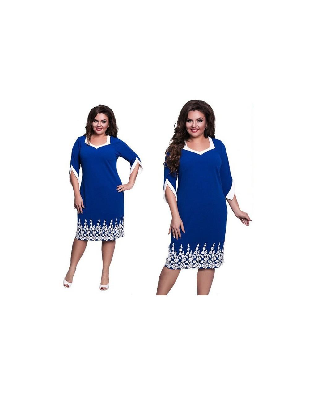 6XL Elegant Ladies Women Dress Fashion Sexy Party Plus Size Maxi Straight Dresses Casual Loose Large Sizes Slim Office Vesti...
