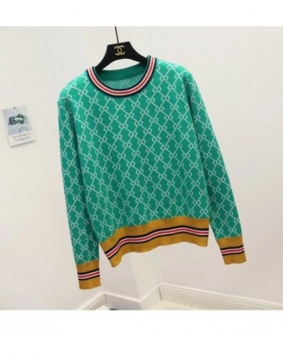 2019 New Brand O-Neck Warm Sweater Pullovers Women Autumn Winter Knitted Jumpers Female Pullover Fashion Tops - Green - 4B30...