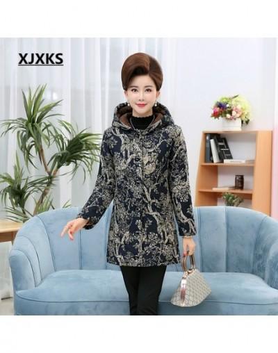 Women Hooded Fleece Winter Coats Outerwear Female Long Coat Warm Parkas Snow Wear Middle Aged Women Parka With Pocket - 3 - ...