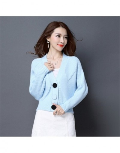 New Spring Autumn Knit Cardigans Women Short Loose Long Sleeve V-Neck Sweaters Female Outwear Coat Cardigans Sweaters PZ1110...