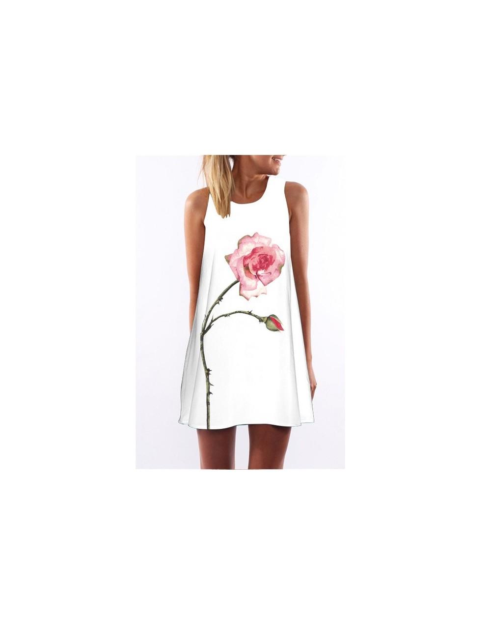 Summer Vintage Dress Women O Neck Loose Causal Beach Wear Above Knee A-line Dress Vest Dress Vestidos 2019 - DS0021 - 4G4125...