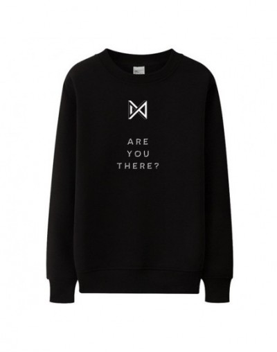 Monsta x new album are you there same printing o neck pullover sweatshirt kpop fans unisex thin loose hoodies spring autumn ...