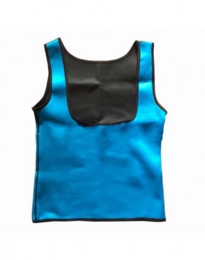 Women Clothes Neoprene T-Shirt Tops-Vest Women Slimming Body Shaper Weight Loss Corrective Underwear - Blue - 4H3928046107-2
