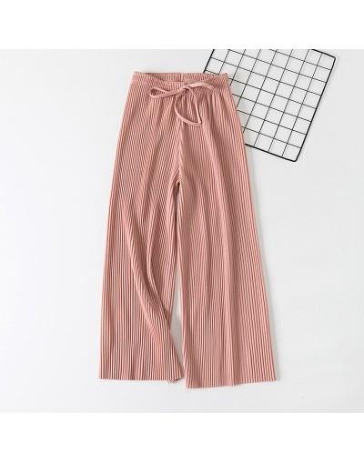 2019 new wide leg pants Korean version of the wild nine pants loose wide leg pants female summer sense high waist pants - Pi...