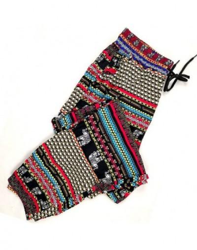 2019 fashion new style wide leg pants women Summer loose elephant print beach large size casual pants streetwear trousers wo...