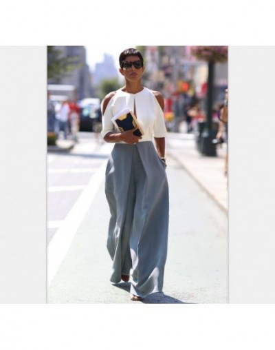 2019 Women Casual Loose Wide Leg Pant Womens Elegant Fashion Style Trousers Female Pure Color Females New Palazzo Pants Loos...