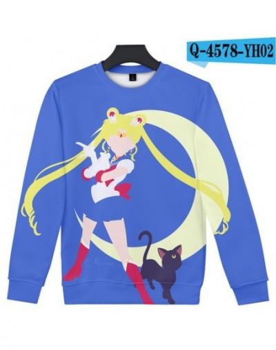 Sailor Moon Women Loose Sweatshirt Restore School Warm Printing Round Neck 3D Print Hoodie Sweatshirt Feminine Anime Hoodies...