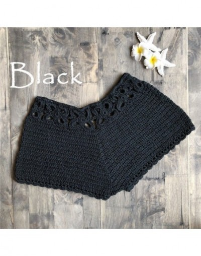 Women Summer Crochet Shorts Knitted Short Shorts Solid Color Sexy Ladies Beach Wear Casual Shorts Bottom - Black - 4I3084486...