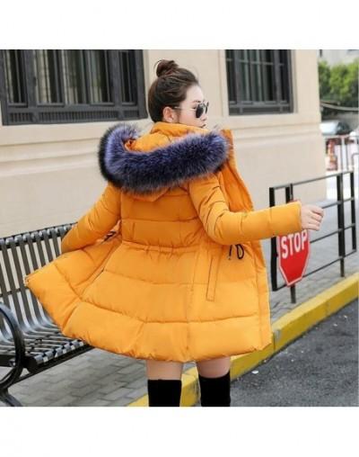 Big fur winter coat jacket women thickened parka women slim long winter coat down cotton ladies down parka down jacket women...