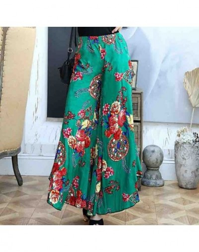 Summer slim fluid wide leg pants female trousers fancy plus size wide-leg pants feet straight casual boot cut - color 10 - 4...
