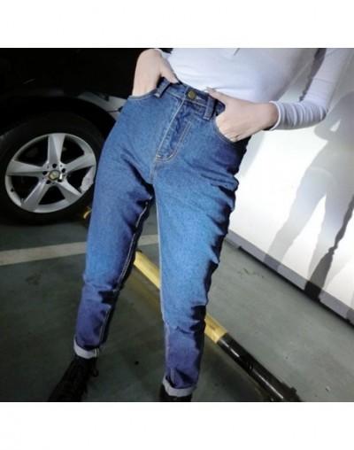 High Waist Jeans Woman 2019 Mom Blue Baggy Jeans Pants Stretch Boyfriend Vintage Denim Loose Elastic Trousers Streetwear 013...