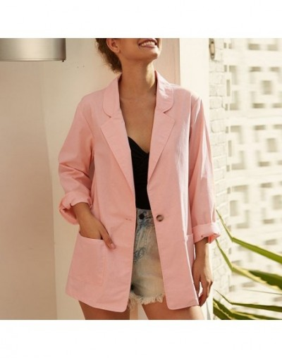 Women's Suits Casual Blazer 2019 Autumn Business Solid Jackets Female Lapel Coats Outwear Single Breasted Tops Plus Size Tun...