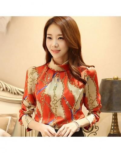 womens tops and blouses print chiffon blolouse shirt 2019 fashion women blouses long sleeve women shirt blusas femininas 181...