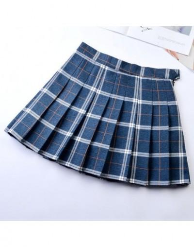 Korean Style Women Pleated Skirt Summer High Waist Japanese Sweets Plaid Mini Skirt School Girl Saia Colegial Jupe Plisse Fe...