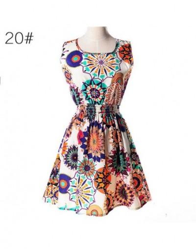 19 Types big size XXL Fashion Sleeveless Dresses 2017 Sexy Vestido Summer Dress Dot Print Chiffon Elegant Casual Tank Dresse...