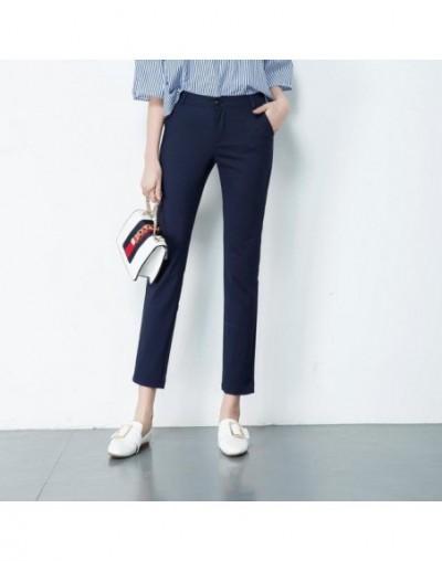 Spring Women's Casual Candy Pencil Pants 2019 Fashion Slim Elastic Cotton Trousers Women Solid 20 Color Plus Size pants S-4X...
