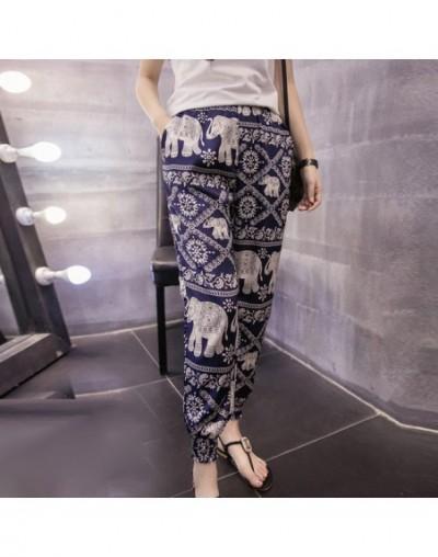 2019 fashion summer print chiffon women pants casual loose plus size harem pants bohemian style beach ankle-length pants D78...