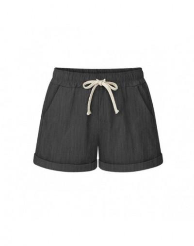 Summer Womens High Waist Loose Wide Leg Shorts Thin Casual Shorts Large Size 6XL Haren Shorts Female Cotton Short Pants - Je...