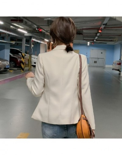 Fashion casual long-sleeved blazer women's 2019 autumn slim black suit female Korean temperament office jacket - D - 5R11119...