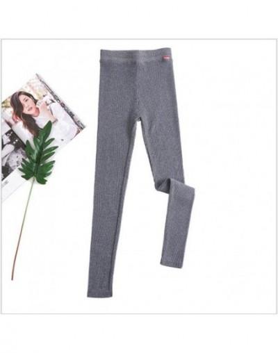 2019 NEW plus cashmere fashion leggings women girls Warm Winter plus Velvet Knitted Thick Legging Super Elastic Pants A32 - ...
