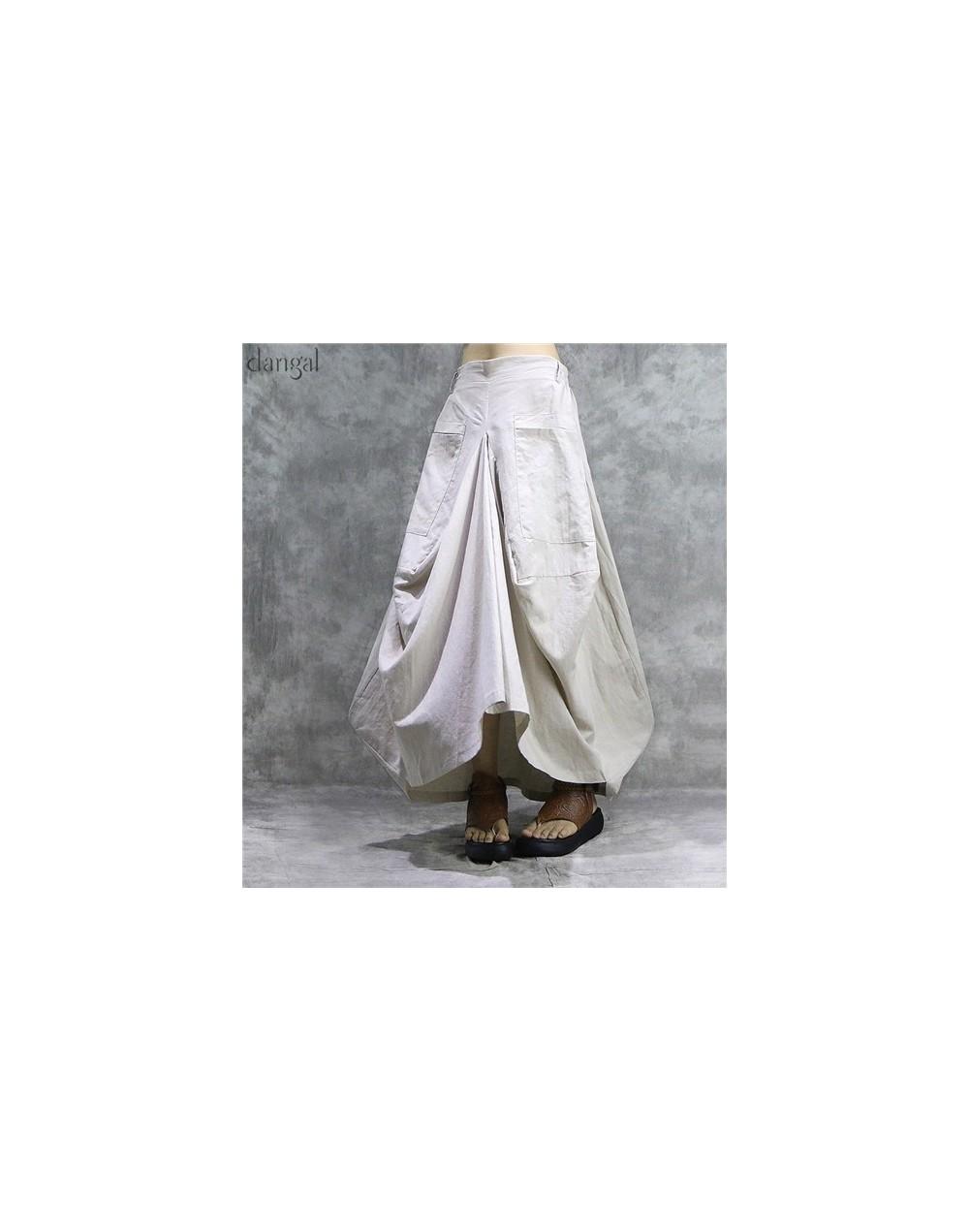2019 New Autumn Skirts Casual Plaid Bud Pockets Multicolor Pleated Skirt Natural Comfortable Women Skirt Female Linen Skirt ...