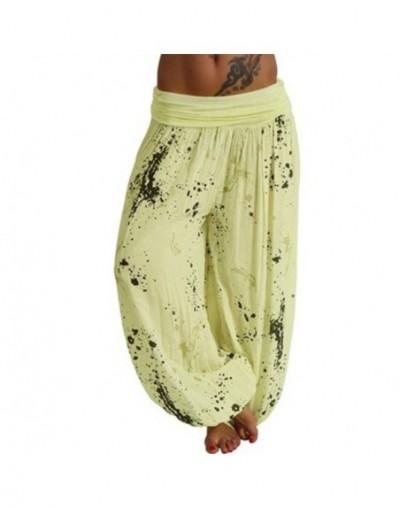 Summer Beach Bohemian Pants Women High Waist Harem Pants Plus Size Vintage Loose Print Bloomers Floral Trousers Women - yell...
