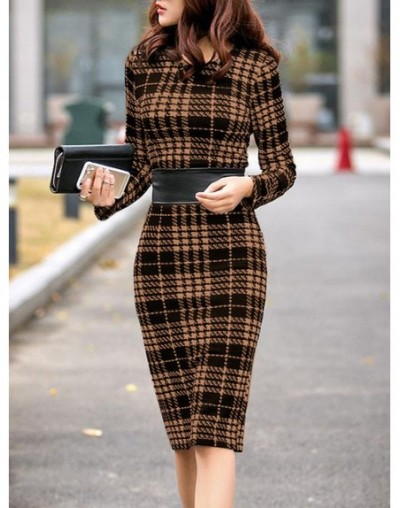 Women's Elegant Chic Bodycon Formal Dress 2019 Autumn Winter Fold-over Collar Plain Office Suits for Women Two Piece Set - C...