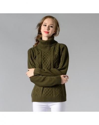 2017 Winter Thicken Turtleneck Sweater Women Brief Twist Hemp Flowers Cable Knitted Pullover Female Soft Warm High Neck Swea...
