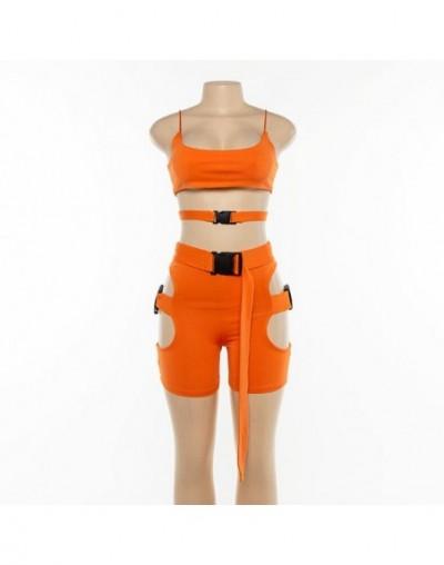 Two Piece Set Club Outfits Summer Biker Shorts Set Festival Clothing tracksuit Women Conjuntos De Mujer Femme 2 Piece Set Wo...