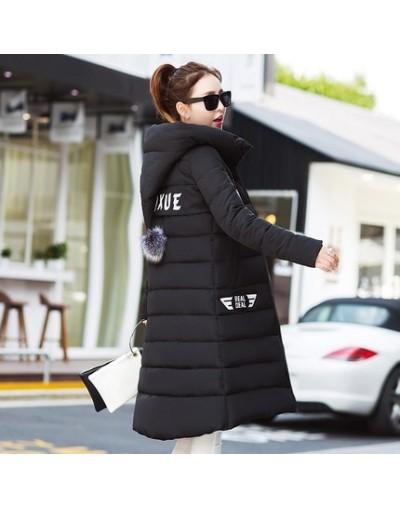 Winter Jacket Coat Women Clothing 2018 Hoodie Thickening warm Medium long Outerwear Slim Plus size 4XL Down Cotton Jacket Fe...