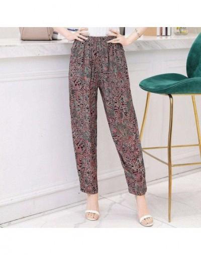 Classic Printed Casual Trousers for Women Loose High Waist Elastic Harem Pants Female 2019 Summer Wide Leg Pants Plus Size 5...
